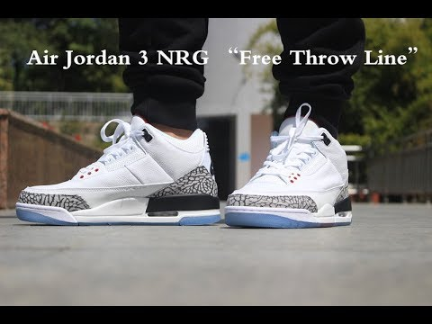 "1ba352064b59 Air Jordan 3 NRG ""Free Throw Line"" ON FEET - YouTube"