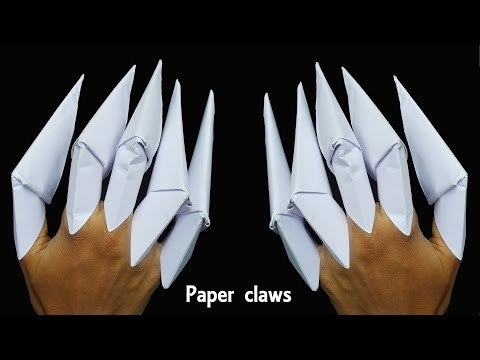How to make  Paper Claws    Kids Craft