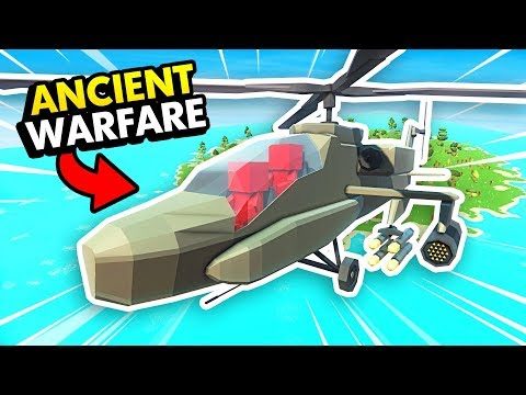 NEW HELICOPTER UNITS IN ANCIENT WARFARE 3 (Ancient Warfare 3 Funny Gameplay)