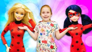 Фото Леди Баг и Барби спасают город. Супергерои видео для девочек.