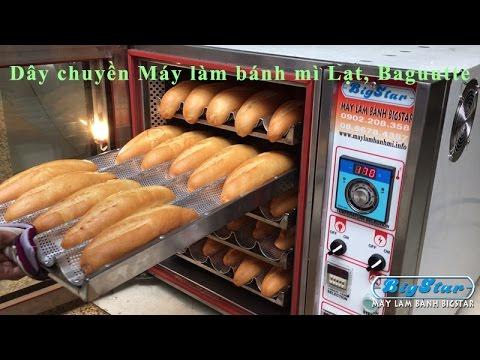Dây chuyền làm bánh mì Việt Nam, bánh mì baguette – Máy làm bánh BigStar