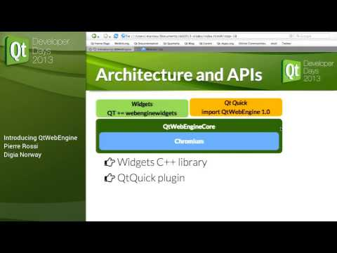 QtDD13 - Pierre Rossi - Introducing QtWebEngine