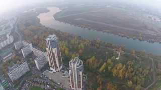 Полет в Москве Строгино 11.10.2014 г. Квадрокоптер DJI Phantom 2 Vision+