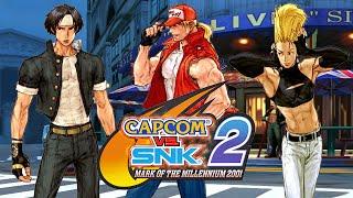 Capcom vs. SNK 2: Mark of the Millennium 2001 - Benimaru/Kyo/Terry - Arcade Mode Playthrough