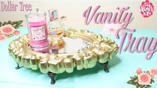 Dollar Tree DIY Vanity Tray -Vintage Vanity Tray | Perfume Tray