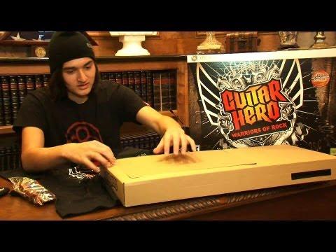 Guitar Hero Warriors of Rock Unboxing
