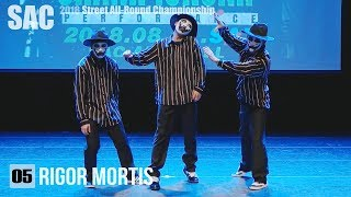 05 rigor mortis | 대학일반부 Poppin 팝핀 | 서종예 스트릿 올라운드 챔피언쉽 2018 Filmed by lEtudel