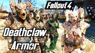 Fallout 4 - DEATHCLAW ARMOR SHOWCASE - BADASS COMPANIONS - SKINNING IN THE COMMONWEALTH - PC MOD