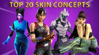 *NEW* Top 20 CONCEPTS FORTNITE SKINS..! (Atomic Blanc,ARIANA GRANDE..!)
