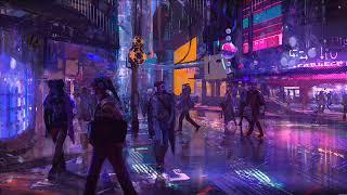 'Cyberpunk Cafe' Cityscape Ambiance ASMR