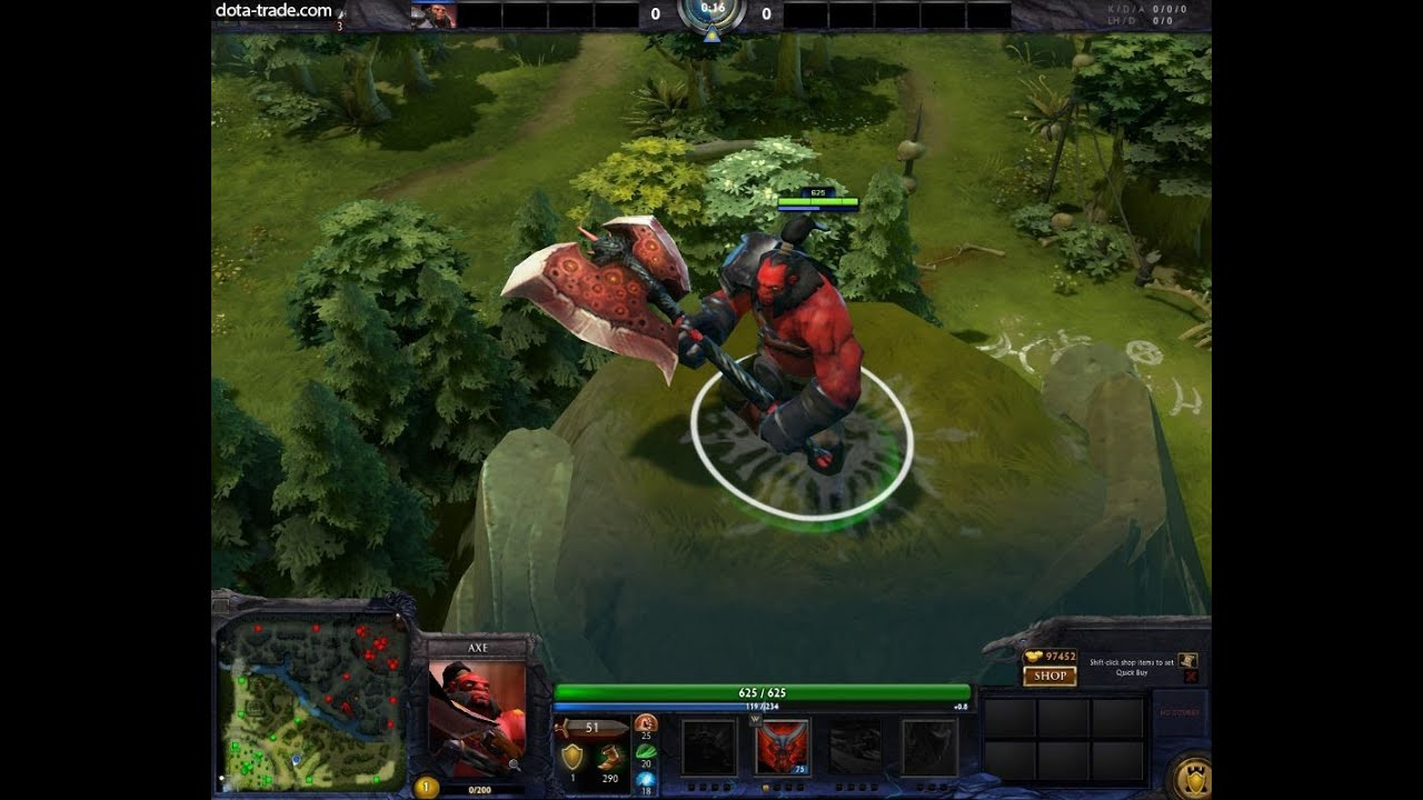 dota 2 axe corruptor mythical weapon review youtube