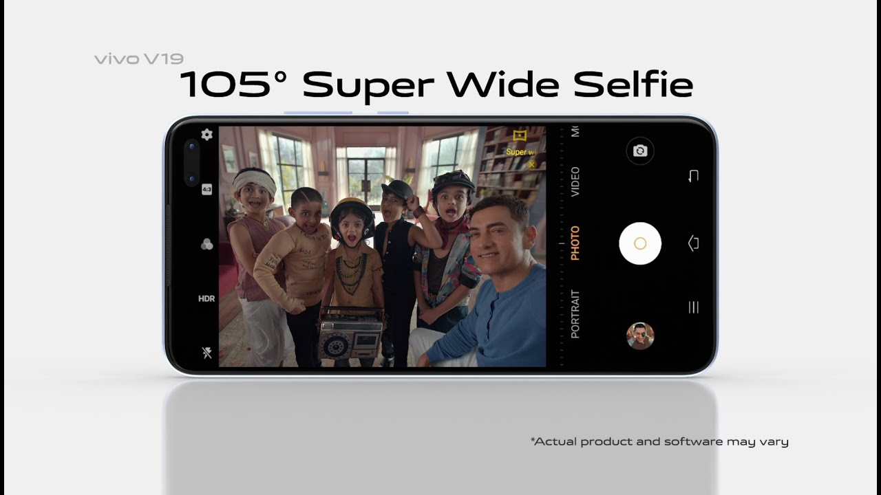#vivoV19 | 105 ° Super Wide Selfie