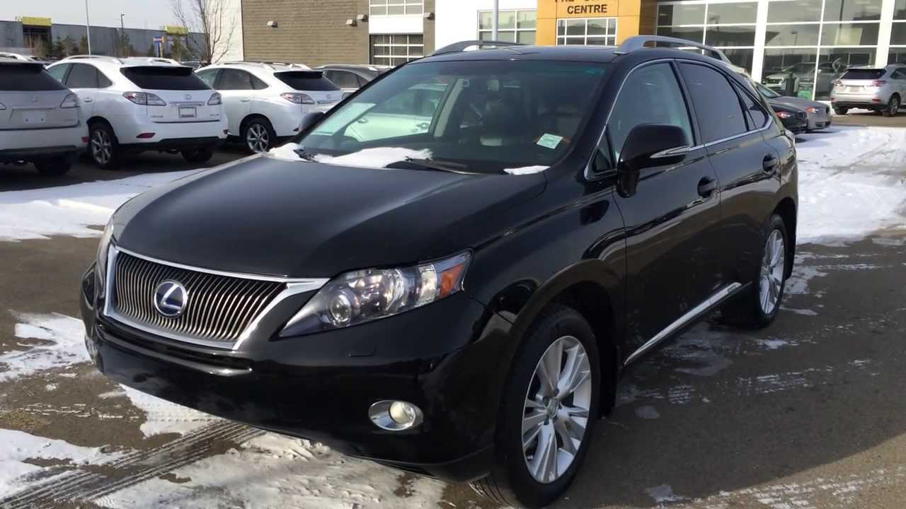 Pre Owned Black 2010 Lexus Rx 450h Awd Hybrid Touring Package Calgary You