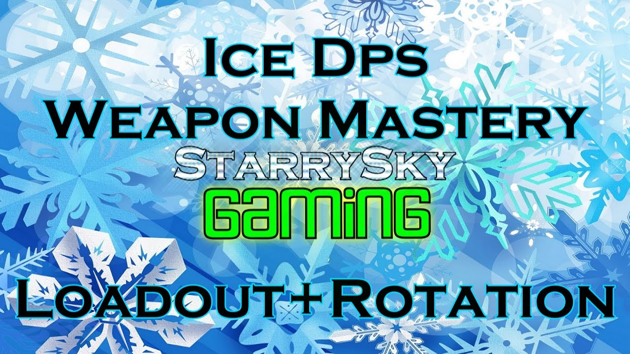 dcuo ice dps weapon mastery loadout rotation youtube