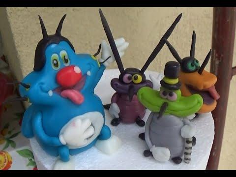Torta Compleanno Oggy E I Maledetti Scarafaggi.Cake S Topper Oggy E I Maledetti Scarafaggi Pasta Di Zucchero Youtube