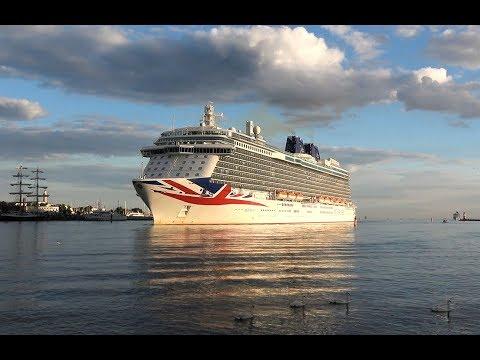 4K | German Premiere BRITANNIA first call at port Rostock Warnemuende