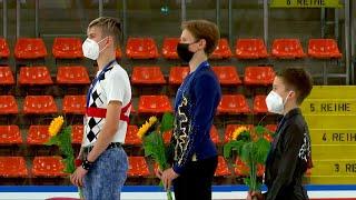 Церемония награждения Юноши Линц Гран при по фигурному катанию среди юниоров 2021 22