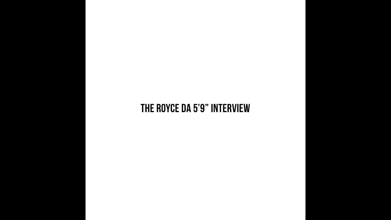 "All The Fly Kids Presents Centerpieces: The Royce Da 5'9"" Interview"