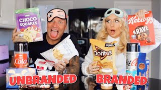 Branded VS Unbranded Food challenge!! *with my Dad*