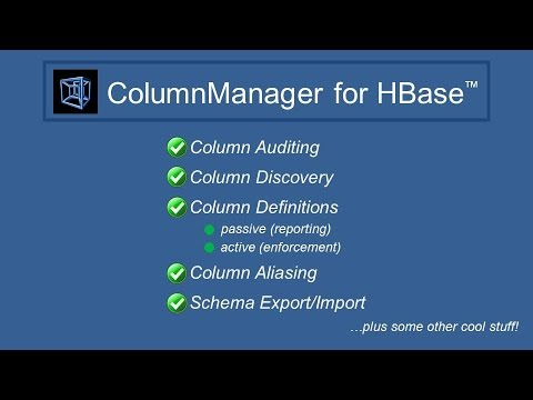 INTRODUCTION: ColumnManager for HBase™