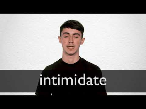 intimidate meaning in english