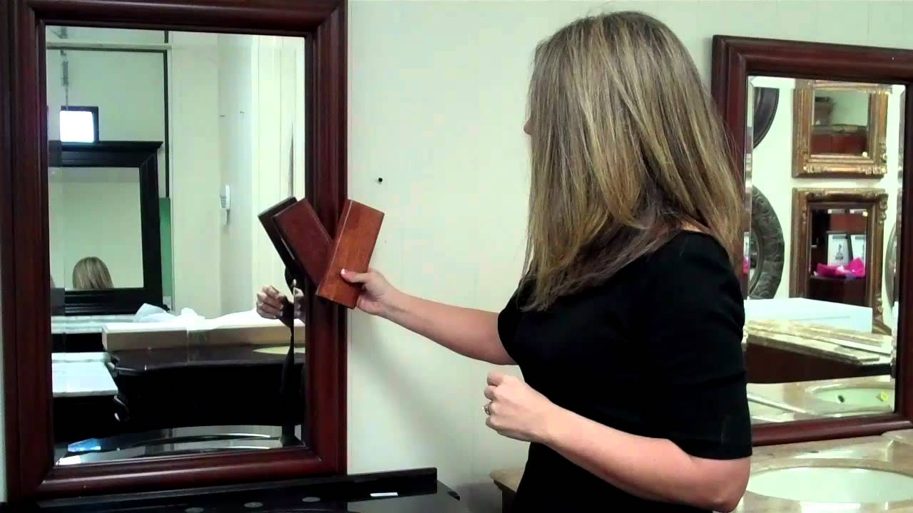Beau Matching A Bathroom Mirror With A Vanity: A Cherry Finish Example   YouTube