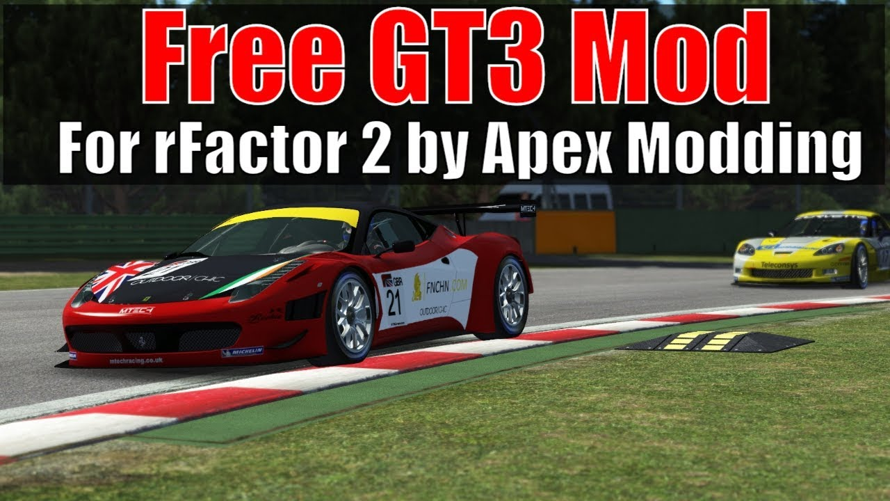 Free GT3 Mod for rFactor 2 by Apex Modding (Race at Imola)