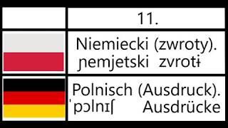 11. Niemiecki (zwroty) - Polnisch (Ausdruck).