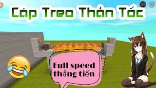 Cách làm ra Cáp Treo Thần Tốc trong Mini World : Block Art !!!