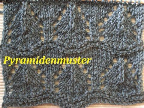 Ajourmuster  Pyramidenmuster Stricken*Muster für Pullover*Mütze*Tutorial Handarbeit
