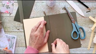 Turn A Hanging File Folder Into An Open Spine Journal   Step-By-Step Tutorial   Super Easy