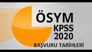2020 KPSS -EKPSS SINAV TARİHLERİ(GÜNCEL)