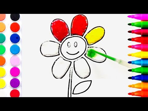 flower-coloring-pages-salt-painting-for-kids-|-fun-art-learning-colors-for-children