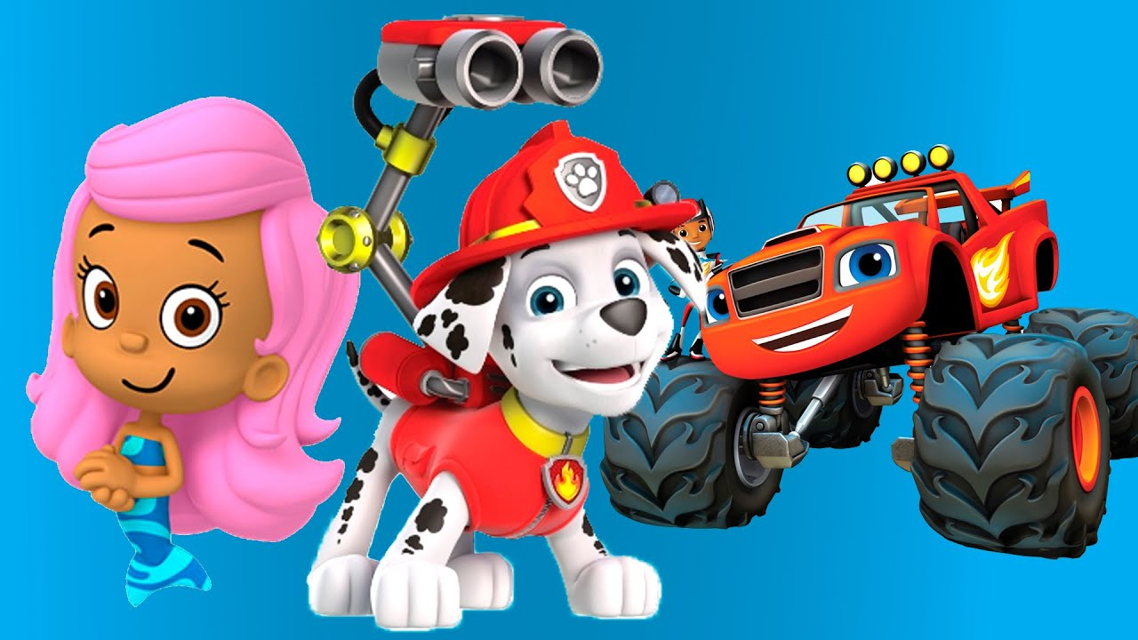 paw patrol bubble guppies mermaid and blaze firefighters full