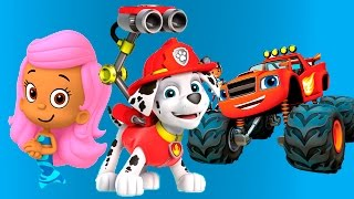 paw patrol bubble guppies mermaid and blaze firefighters full episode game