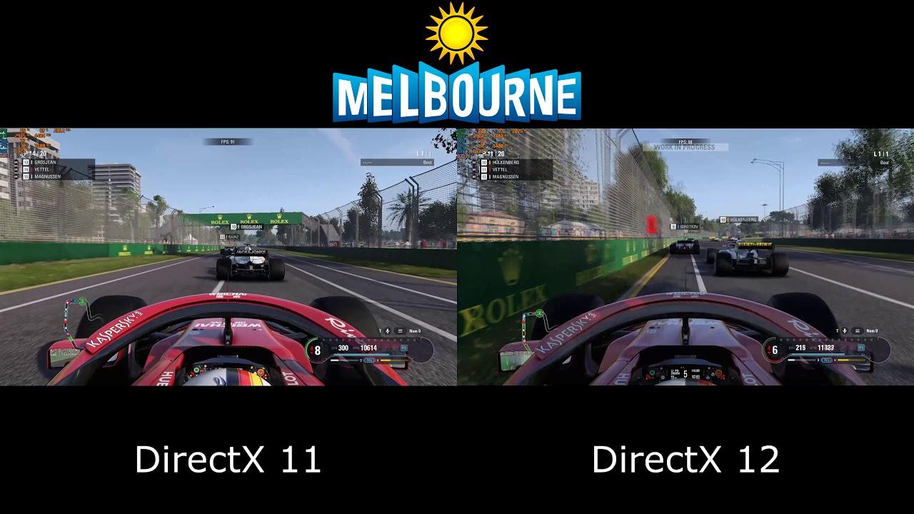 F1 2018 - DirectX 11 vs DirectX 12 - Performance Benchmark