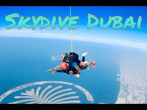 Skydiving over The Palm Jumeirah Dubai/Best Photo Clips from Go Pro