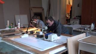 Реставрация живописи.(Реставрация картин Д.Г. Левицкого в фирме Реставрация живописи. Серия
