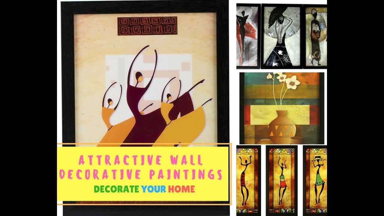 Attractive Wall Paintings To Decorate Your Beautiful Wall - YouTube