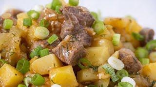Готовим сразу на всю семью. Домашнее блюдо из советских времен. Азу по-татарски.