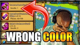 SUMMONERS WAR: TRANSCENDENCE SUMMON - RIGHT UNIT / WRONG COLOR !!