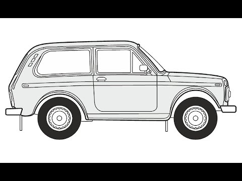 How to Draw a Lada Niva / Как...