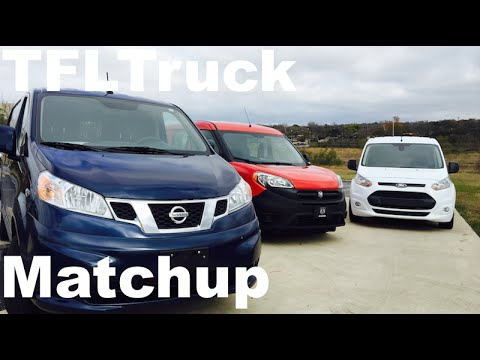 2015 Ram ProMaster City vs Ford Transit Connect vs Nissan NV200 Matchup Van Review