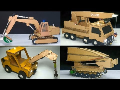 Top 4 création unique à partir de carton avec des jouets de voiture pour les enfants