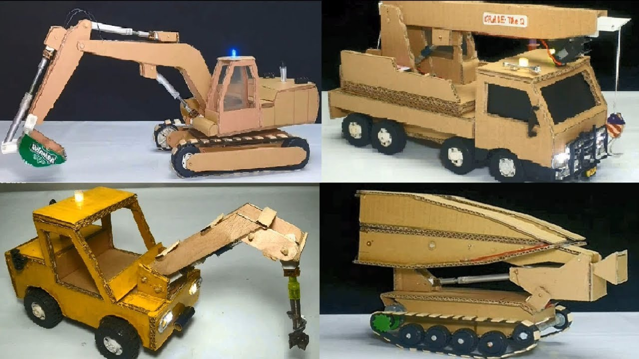 Toys For 4 : Top unique creation from cardboard with toys for kids