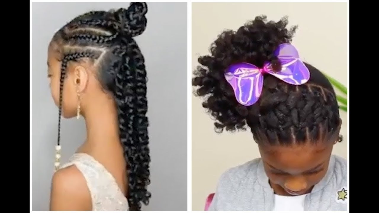 Natural Hair Kids Hairstyle Compilation Puffs Special Occasion