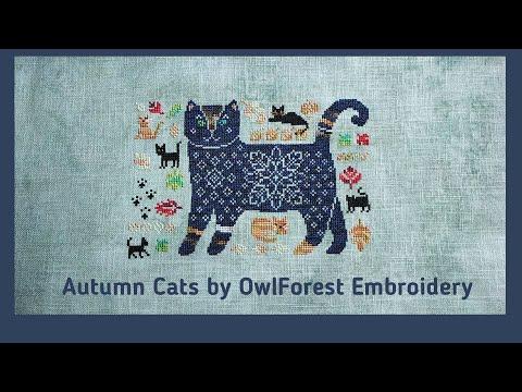 Magical Autumn Cats by OwlForest Embroidery | Осенние коты от Совиного леса | Вышивка крестиком