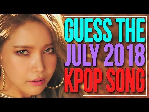 GUESS THE JULY 2018 KPOP SONG IN 1 SECOND | KPOP Challenge | Difficulty: Medium