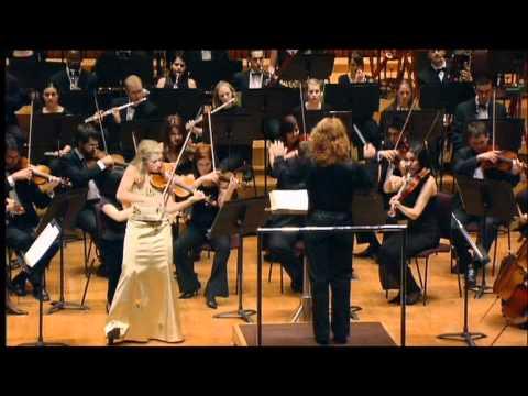 Anna-Liisa Bezrodny, Schostakovich Violin Concerto No.1, cadenzas & part 4 at Barbican Hall, London