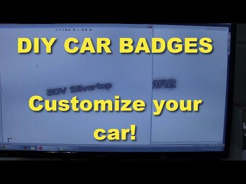 Make your own custom car badges - YouTube
